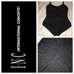 INC Size 16 black 1 piece bathing suit